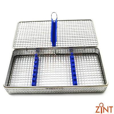 7Pcs Dental Instruments Sterilization Cassette Stainless Steel Mesh Tray Racks 3