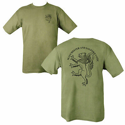 Double Sided Printed Army GREEN SAND T-shirt AMALGAMATION disbanded QRL RCT