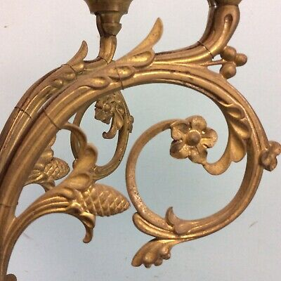 "Bronze 6-Arm Chandelier 30.5""L 8"