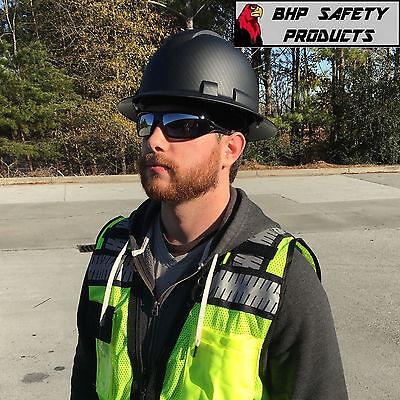Pyramex Ridgeline Hard Hat Graphite Pattern Black Gray Full Brim Safety Hp54117 5