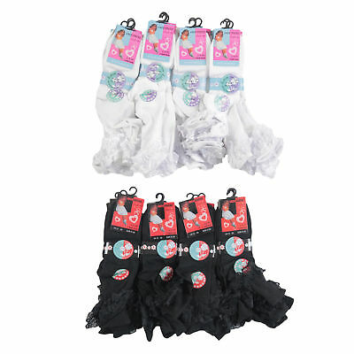 12 Pairs GIRLS CHILDREN KIDS FRILLY CUTE LACE ANKLE SOCKS SUMMER WEDDING PARTY 2