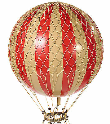 "XL Hot Air Balloon Red & White Striped 17"" Ceiling Hanging Aviation Home Decor"