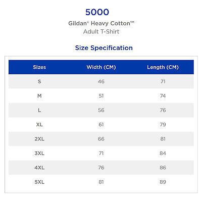Gildan T-SHIRT Black blank plain tee S M L XL 2XL XXL Men's Heavy Cotton Premium 2