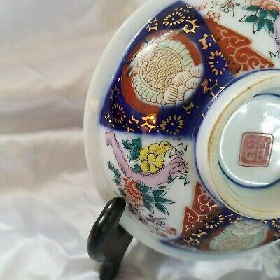 Small Antique Imari Arita Japanese Meiji/Hizen Period Marked Footed  Bowl 4