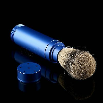 1PC Travel Shaving Brush Pure Badger Hair Removable Aluminum Handle Portable 2