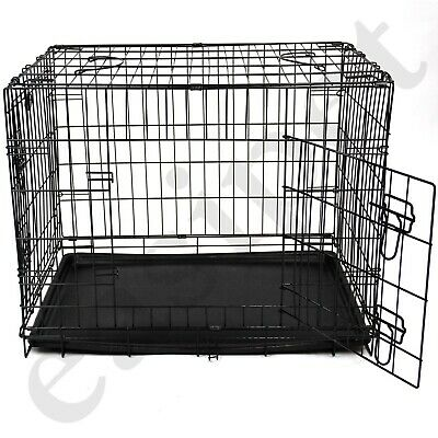 Dog Cage with Bed Training Metal Crate Puppy Pet Cat Carrier XS S M L XL XXL 8