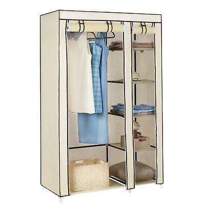 Faltschrank Kleiderschrank Stoffschrank Campingschrank Garderoben 110x45x175 cm