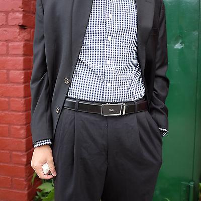 Falari® Men's Genuine Leather Dress Ratchet Belt 35mm Adjustable Size 7010 5