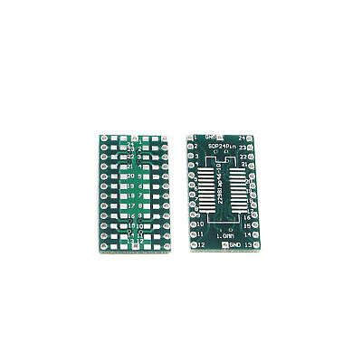 20pcs new SOP24 1mm to DIP24 24Pin 2.54mm PCB Adapter Converter Board