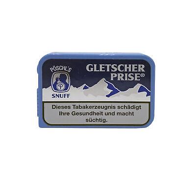 20 Dosen Gletscher Prise Snuff Schnupftabak á 10 g 2