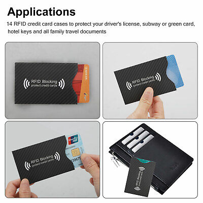 RFID Blocking Sleeve Credit Card Protector Anti Theft Safety Shield Case Cover 7