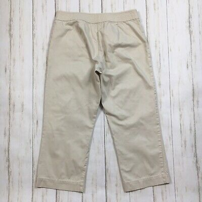 Talbots Womens Size 4 Beige Croped Capri Pants 5