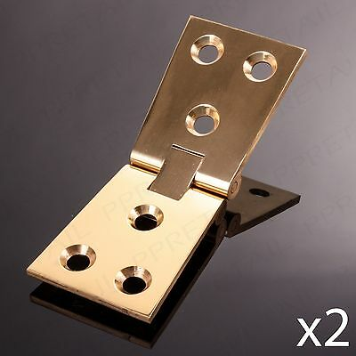 HEAVY DUTY SOLID BRASS COUNTERFLAP HINGE Pair 32mm Tapered Bar/Pub Counter Flap 2