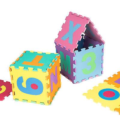 Manta de juegos alfabeto puzzle alfombra rompecabezas 86 piezas goma espuma EVA. 5