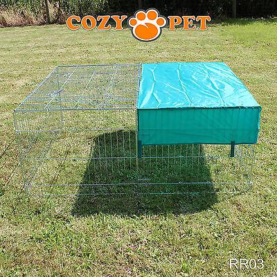 Cozy Pet Rabbit Run Play Pen Guinea Pig Dog Playpen Chicken Puppy Cage Hutch 6