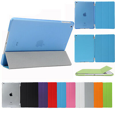 Smart Cover and Hard Back Case for Apple iPad 6th Gen iPad 5 4 3 2 mini Air 2
