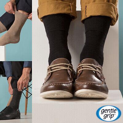 IOMI - Mens 6 Pack Wide Loose Top Non Binding Elastic Cotton Crew Diabetic Socks 2