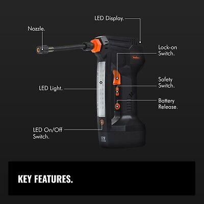 VonHaus Digital Tyre Inflator Cordless Handheld Air Compressor / Automatic Pump 7