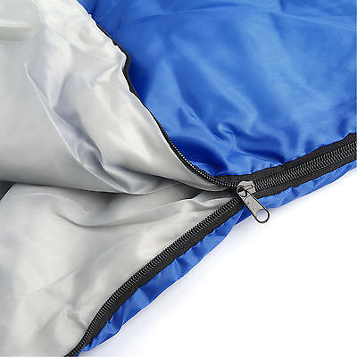 4Season Sleeping Bag Waterproof Single Suit Case Camping Hiking Outdoor Envelope 6