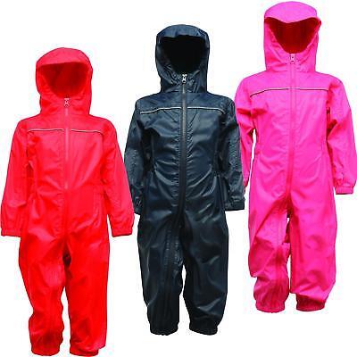 Regatta Paddle Kids Waterproof All-in-one Suit Breathable Rainsuit 2