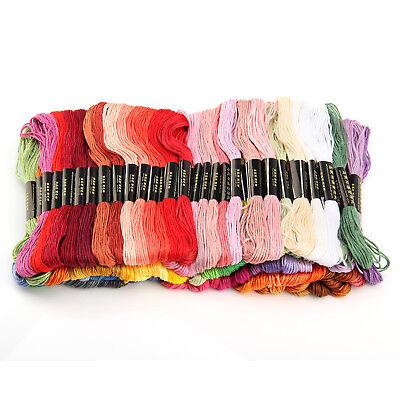 100 Docken Sticktwist Stickgarn 8m 6-fädig Multicolor farblich BUNT DIY  Sticken 8