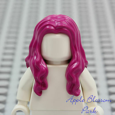 NEW Lego Girl Minifig Long Curly Dark BROWN HAIR Friends Short Curls Head Gear