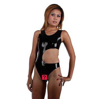 Latex Anzug Ouvert aus Rubber in schwarz, Einheitsgröße 3