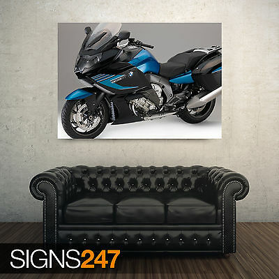 Photo Picture Poster Print Art A0 to A4 BIKE POSTER BMW K1600GT RED AC534