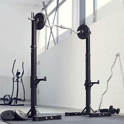 Support Repose Barre musculation pour haltères longs à disques. max env 100kg 4