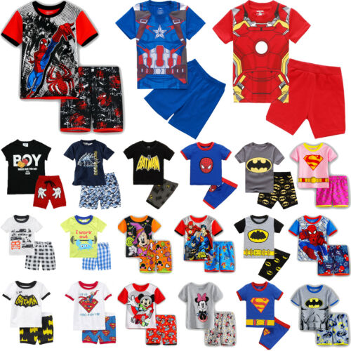 Kids Boys Girls Summer Outfits Clothes Tops T-shirt + Shorts Pants Casual Beach