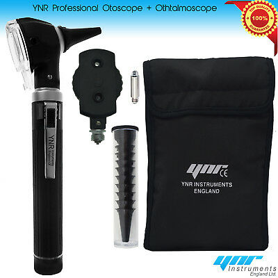 YNR®Fiber Optic Otoscope Ophthalmoscope LED ENT Diagnostic Examination Kit CE UK 2