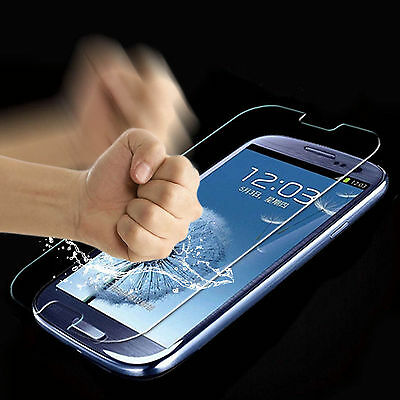 2Pcs HQ 9H Premium Tempered Glass Screen Protector Film For Samsung Galaxy Phone 4