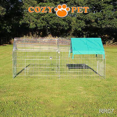 Cozy Pet Rabbit Run Play Pen Guinea Pig Dog Playpen Chicken Puppy Cage Hutch 12