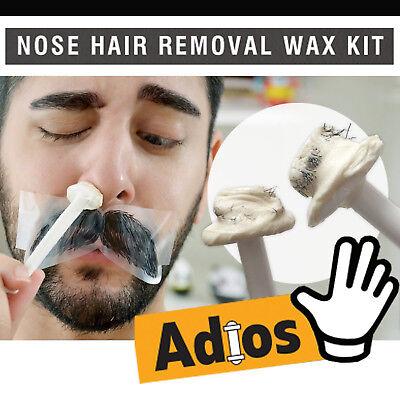 Groomarang Adios Nez Oreille Épilation Cire Kit Indolore & Facile Homme Nasal 3