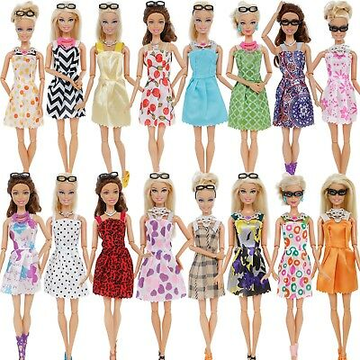 30Pcs Random Dress Shoes Necklace Glasses Clothes Accessory For 12 in. Girl Doll 2