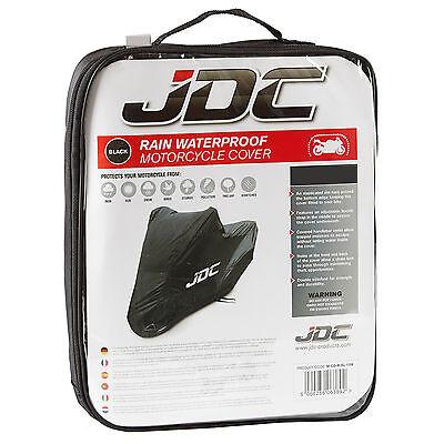 JDC Waterproof Motorcycle Cover Motorbike Breathable Vented Black - RAIN - LARGE 3