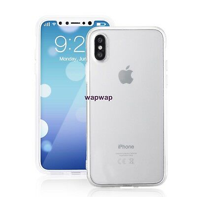 For Apple iPhone X XS Case Silicone Clear Bumper Gel iPhone 10 10S Cover