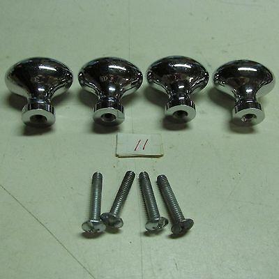 Pull Handles (4) Oval Balls Brass Chromium Plated 5
