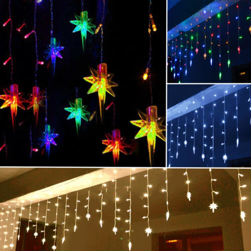 96 led stern lichterkette weihnachten treppe fenster innen. Black Bedroom Furniture Sets. Home Design Ideas