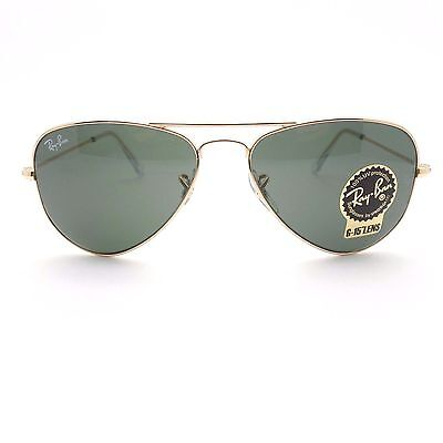 02516c4ea0 ... Ray Ban 3044 New Small Aviator Gold L0207 52mm Petite Authentic  Sunglasses 4