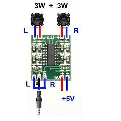 PAM8403 2x3W Classe D Numérique Amplificateur Board 5 V avec potentiomètre Interrupteur pot