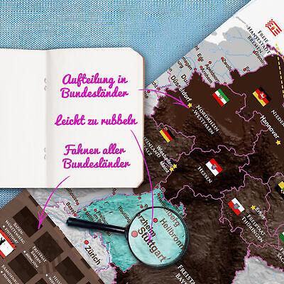 Deutschlandkarte Scratch Rubbel Map Poster Deutschland Landkarte
