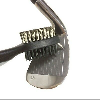 *NEW*  Golf Brush & Club Groove Cleaner-Carabiner Clip On-Retractable-USA STOCK