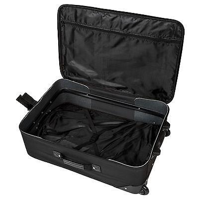 Set de 4 valises de voyage textile trolley bagage avec 2 roues noir 5