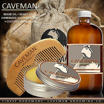 Free Comb High Quality Goods Health & Beauty Treatments, Oils & Protectors Hand Crafted Caveman® 3 Scents Manly Beard Oil Beard Conditioner