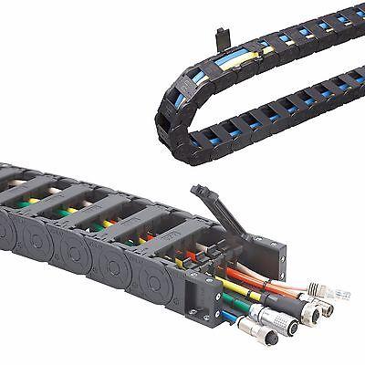 1M, große Energiekette 30x 57,77mm, mit Deckel - Schleppkette -Kabelführung