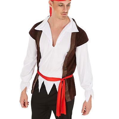 Adulto Aye Aye Capitano Dei Pirati Costume Da Uomo Bucaniere Costume Vestito S M L XL