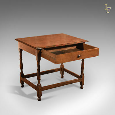 Antique Occasional Table, Victorian, Oak, English, Country, Hall, Side, c.1850 3