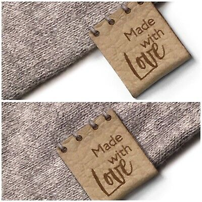 Personalised Centerfold 20mm x 50mm Rectangle Folding Faux Leather labels.
