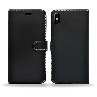 Case for iPhone 6 7 8 5S PLUS XR XS MAX Cover Real Genuine Leather Flip Wallet 3